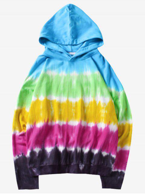 Tie Dye Layered Hoodie - Multi M Mobile