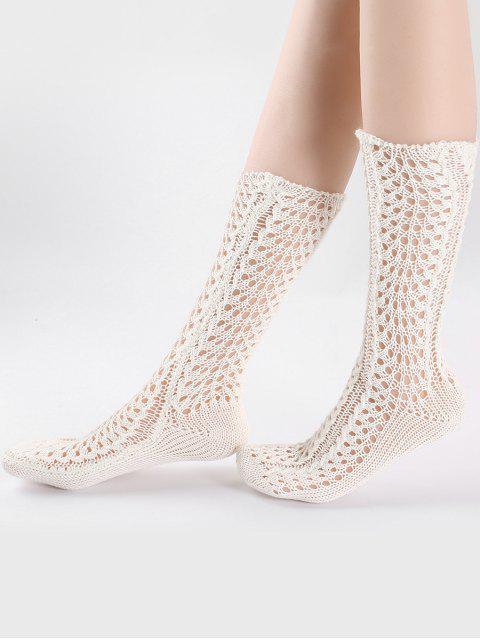 Vintage chaussettes tricotées - Blanc  Mobile