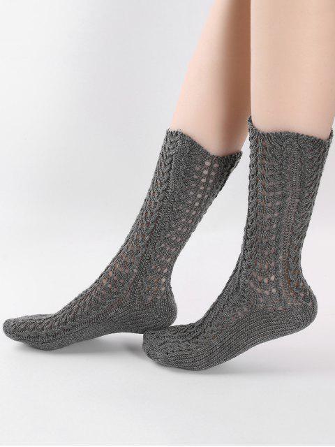 Vintage chaussettes tricotées - Gris Carbone  Mobile