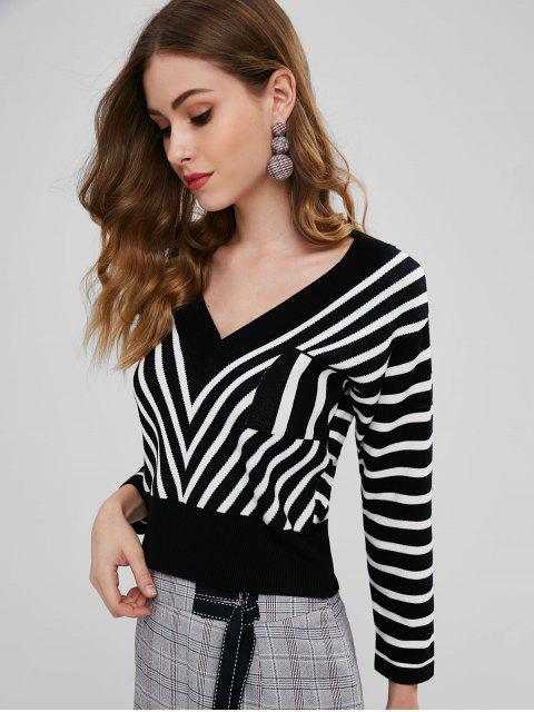 latest Striped Pocket Sweater - MULTI ONE SIZE Mobile