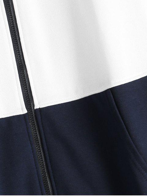 Sudadera Zipper Bloque Color - Blanco Talla única Mobile