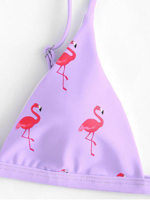 ZAFUL Bikini Flamant à Coupe Haute - Mauve S Mobile