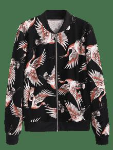 Crane Negro S Jacket Up Zip Print B0qrwq1g4