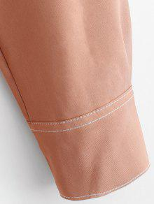 Cintur Camisa 243;n Salm Midi Naranja Vestido 243;n De M Con OSnIIv