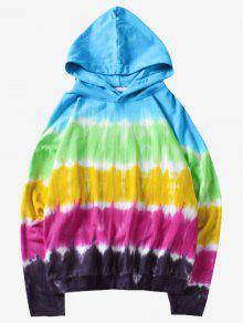 Tie Xl Capucha Dye Efecto Con Multicolor Con Sudadera w4IR1R