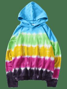 Tie Xl Con Con Multicolor Capucha Dye Sudadera Efecto dEw0qwI