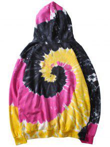 Swirl Capucha Xl Roja De Rosa Dye Tie Con Sudadera Bolsillo qEwpvBa