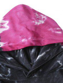 Sudadera Capucha De Swirl Roja Con Xl Dye Tie Bolsillo Rosa wrqHxw15fZ