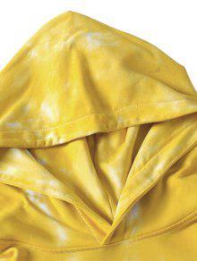 Sudadera Tie Amarillo De Xl Con Capucha Dye Bolsillo T8xZgTq