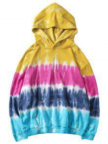 Sudadera Capucha Amarillo Bolsillo Xl Dye Con Tie De ppx5wf1r