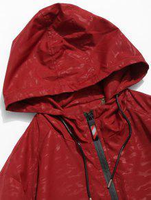 Casta Xs Patchwork Rojo o Chaqueta Capucha Color Block Con BC4fgfXq