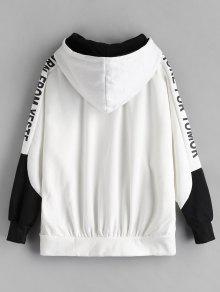 Capucha Up Zip Sudadera Color Gran Tama o De Block Blanco Con w6XEnnfTq