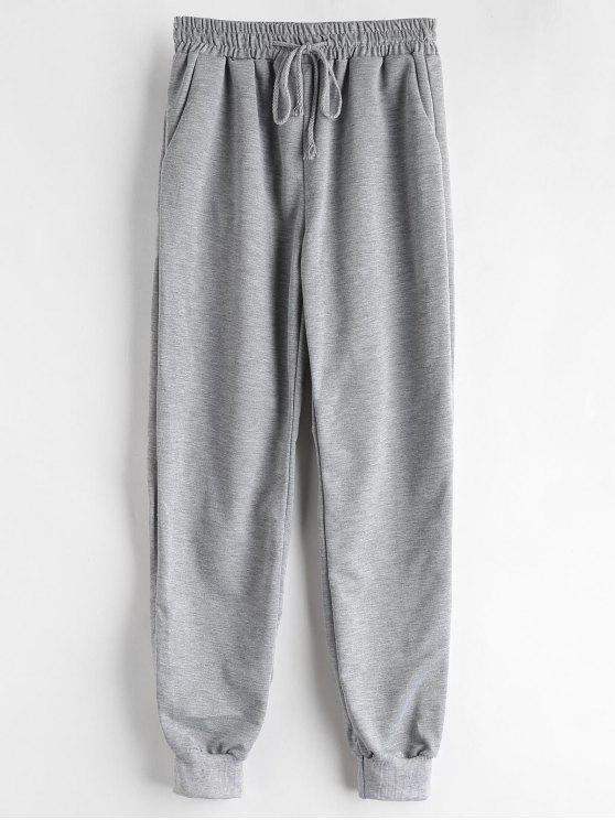 Marled Drawstring Pantalones deportivos - Nube Gris S