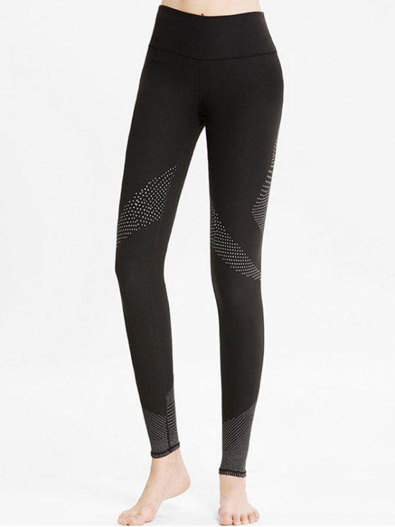 outfits High Rise Geometric Workout Leggings - BLACK L