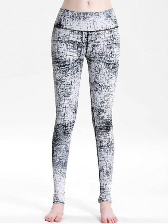new Printed High Rise Sports Leggings - MULTI S
