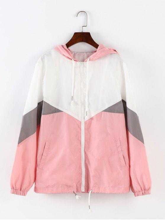 ZAFUL Color Block Kapuzenjacke mit Windbreaker - Multi S