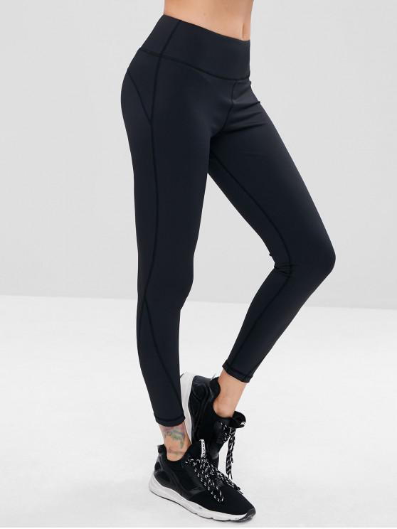 outfits Sporty High Waisted Gym Leggings - BLACK L