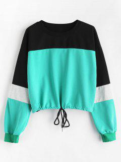 Color Block Drop Shoulder Sweatshirt - Multi M