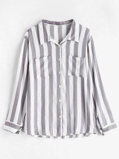 Striped Pockets Shirt - Multi S