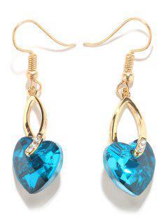 Boucles D'oreilles En Alliage De Coeur En Faux Cristal - Or