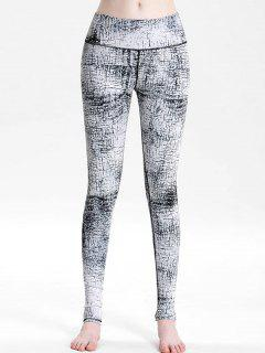 Printed High Rise Sports Leggings - Multi M