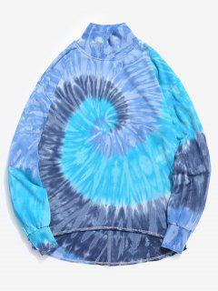 Streetwear Swirl Tie Dye Sweatshirt - Cornflower Blue M