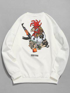 Sudadera Con Manga Larga Casual Estampada China - Blanco M