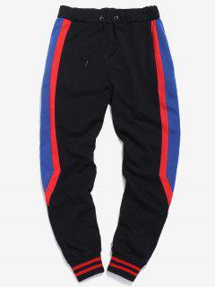 Pantalones De Jogging De Rayas Bordadas A Los Lados - Negro M