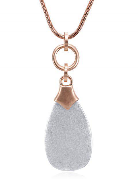 Wassertropfenförmige Pendnat Halskette - Roségold  Mobile