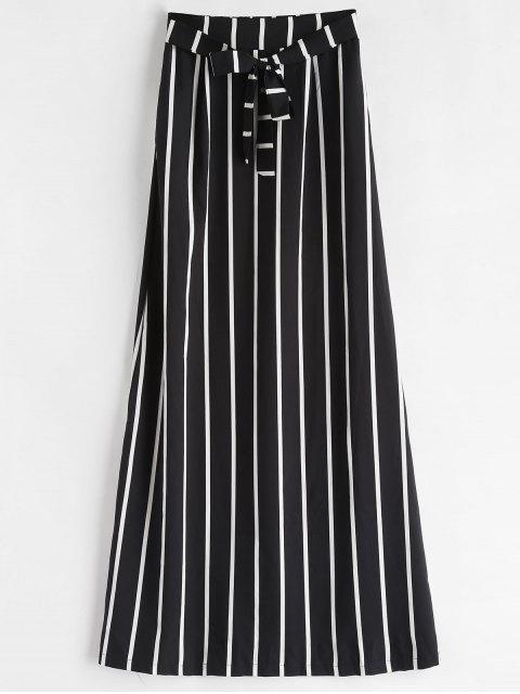 Jupe longue à rayures - Noir S Mobile