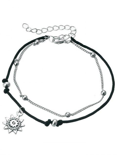 hot Vintage Metal Sun Beach Anklet Chain - SILVER  Mobile