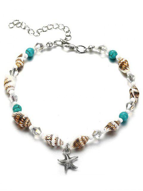 outfits Stylish Faux Turquoise Sea Star Beach Ankle - MULTI  Mobile