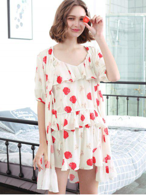 Ensemble de robe de chambre à coucher - Blanc XL Mobile