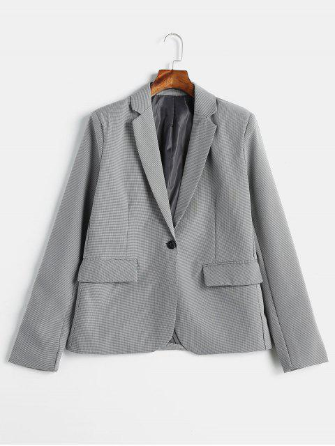 sale Houndstooth One Button Blazer - MULTI S Mobile