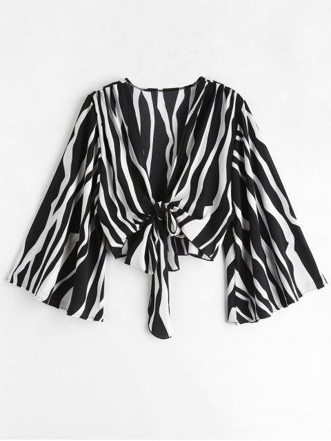 Haut à manches croisées Bell Sleeve Zebra Pirnt - Multi L Mobile