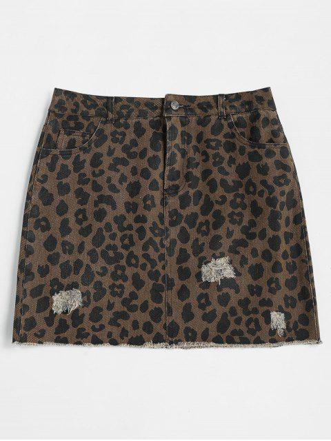 Minifalda leopardo rasgada - Leopardo M Mobile