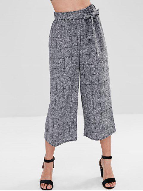 Grid Gaucho Pants - Gris Talla única Mobile