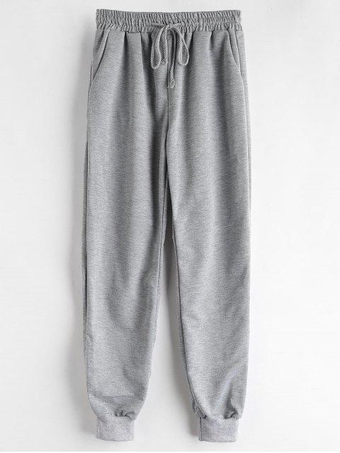 Marled Drawstring Pantalones deportivos - Nube Gris S Mobile