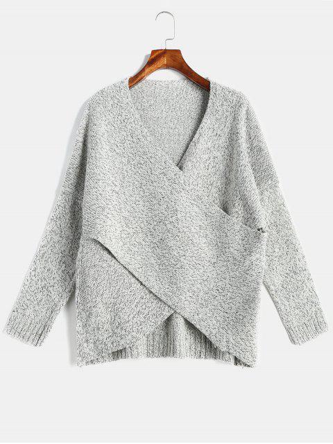Sobrepelliz Heather Drop Shoulder Sweater - Gris S Mobile