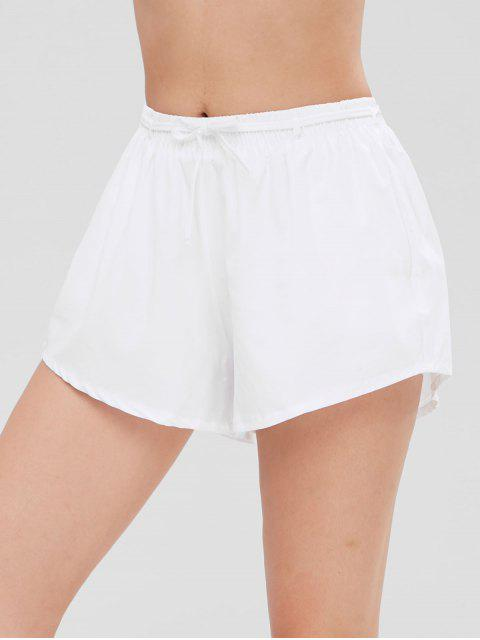 unique Quick-dry Lined Sports Shorts - WHITE M Mobile