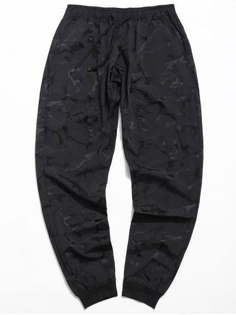 shops Drawstring Skull Print Jogger Pants - BLACK XL Mobile