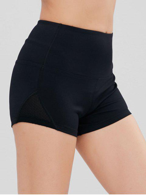 unique ZAFUL Mesh Panel Sports Shorts - BLACK L Mobile
