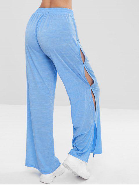 ZAFUL Slit Wide Leg pantalones deportivos - Azul Mariposa  L Mobile