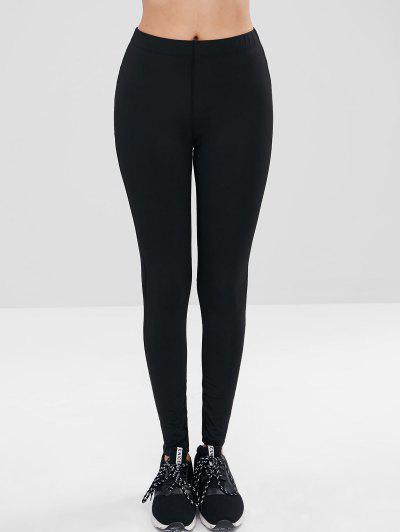 09f56206ba Mesh Striped Panel Sports Leggings - Black L