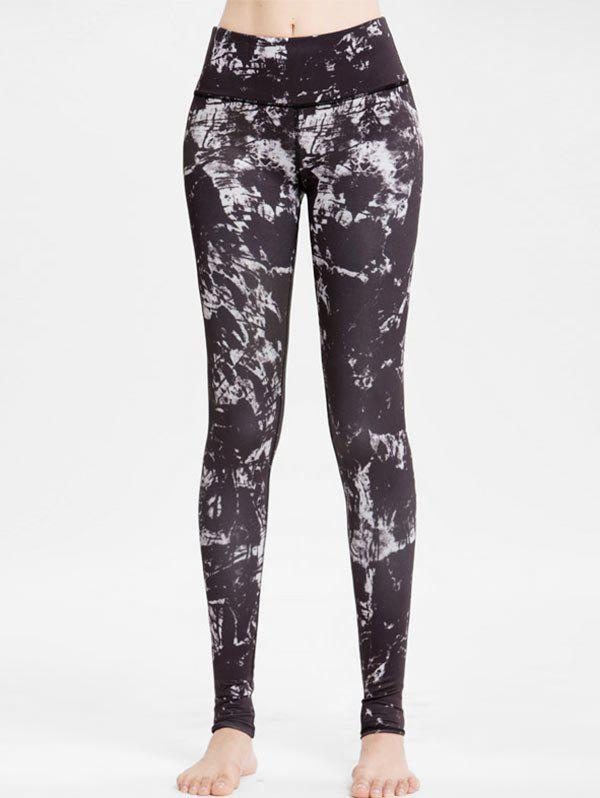 Abstract Print High Waisted Workout Leggings