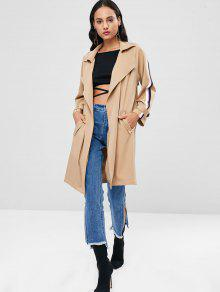 Panel Rayas Trench Tan Coat De M Abierto Escudo pHqfwPAA