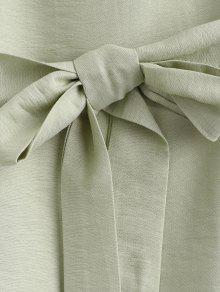 Vestido De Casual Cintur 243;n Manga Rana Con Larga Verde De rr8xSZUw