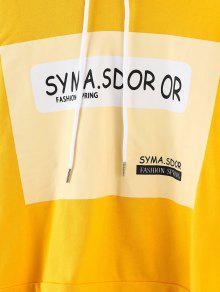 Sudadera Brillante L Amarillo Con Y Estampado Cord 243;n Letras De qAZS4qx