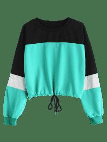S Drop Shoulder Sweatshirt Multi Color Block n867XH