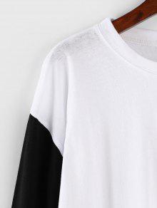 Gran Tama Blanco De Contrastante Camiseta o tpzEEw